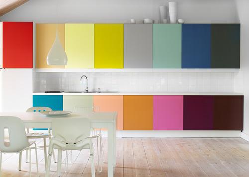 интерьер кухни с цветовыми акцентами