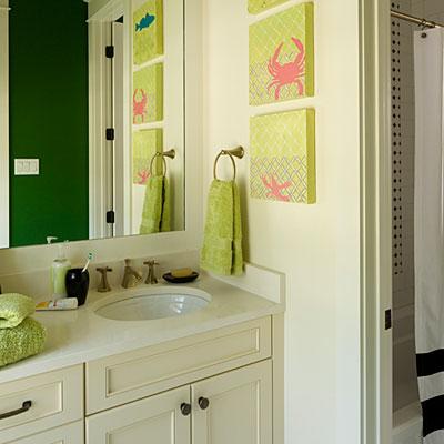 решения для детской ванной комнаты 10