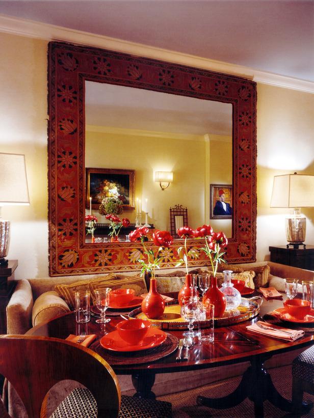 Зеркала в интерьере столовой