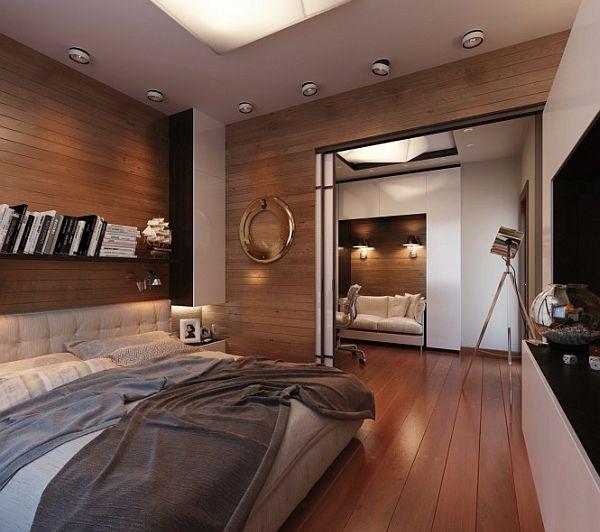 Офис в спальне фото 3