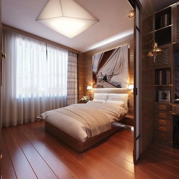 Офис в спальне фото 6