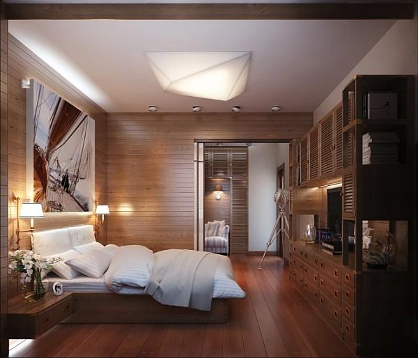 Офис в спальне фото 5