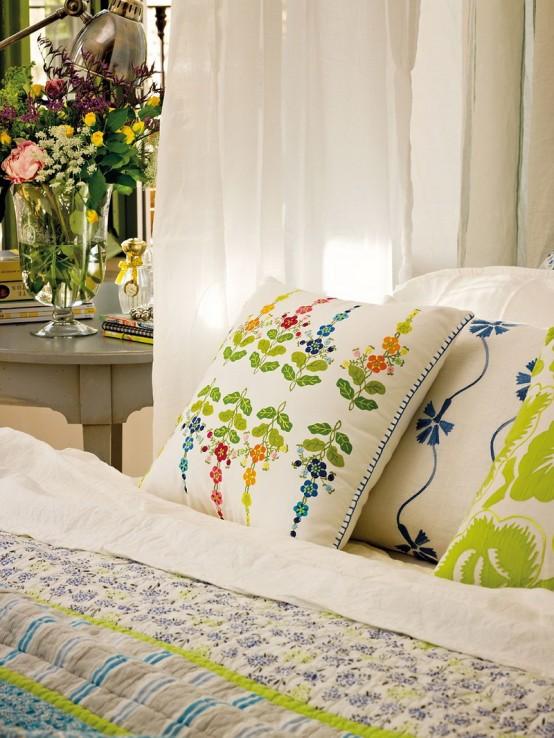дизайн интерьера  романтической спальни