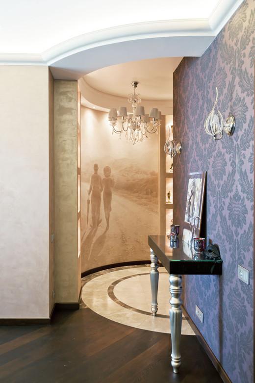 интерьер холл в четырехкомнатной квартире
