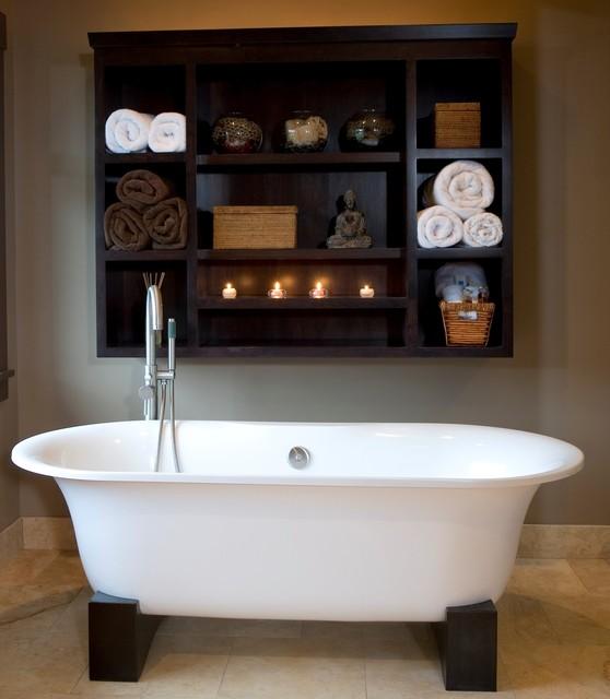 современная ванна в азиатском стиле