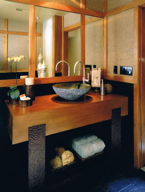 азиатский интерьер ванной