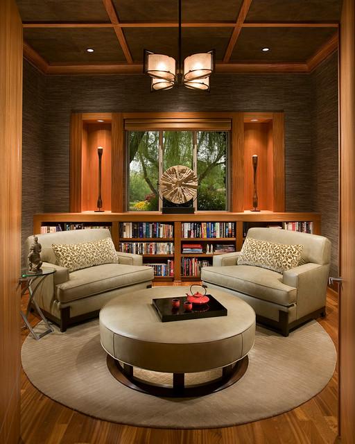 библиотека в азиатском стиле