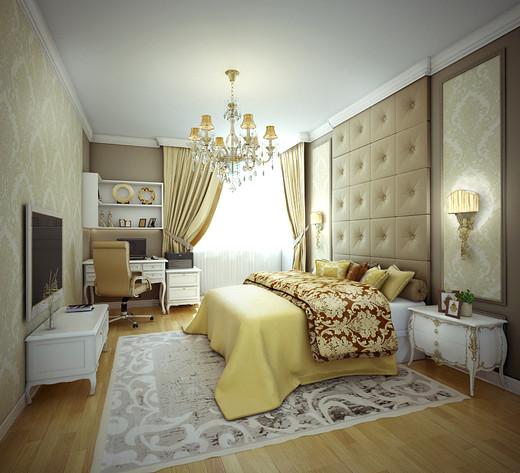дизайн спальни - Многокомнатная квартира