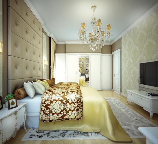 интерьер спальни  - Многокомнатная квартира