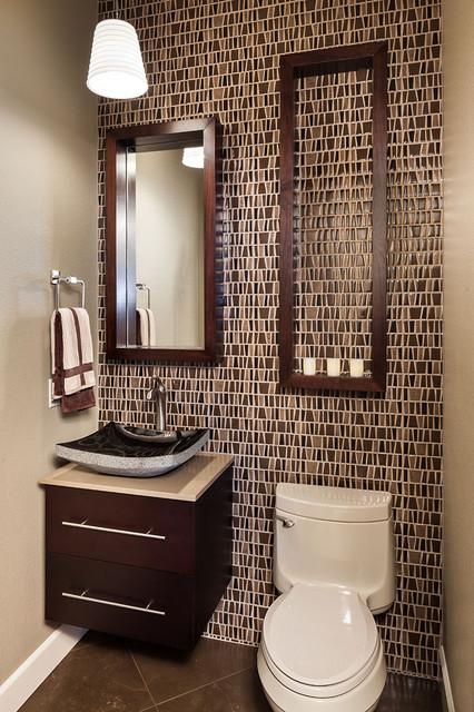 коричневая ванная фото 4