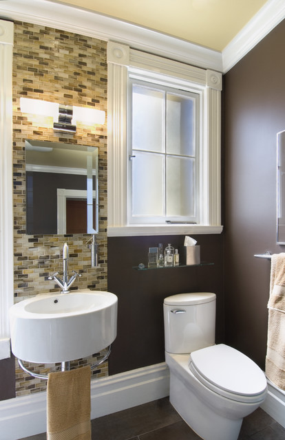 коричневая ванная фото 3