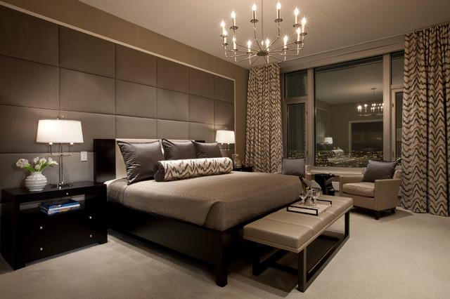 коричневая спальня фото 17
