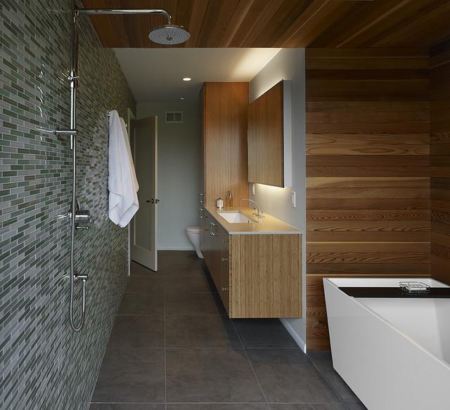 коричневая ванная фото 15