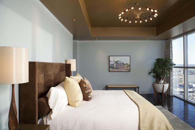 коричневая спальня фото 15