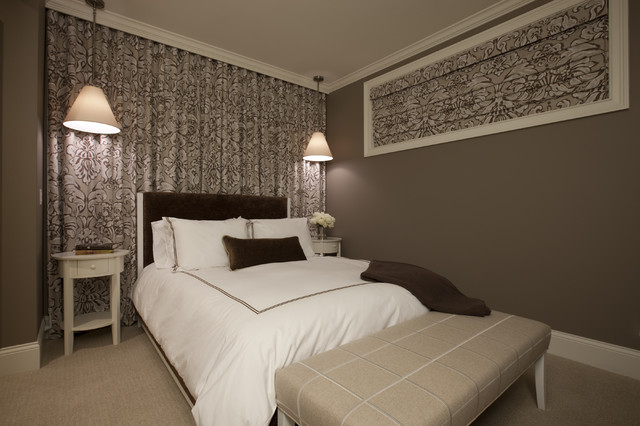 коричневая спальня фото 12