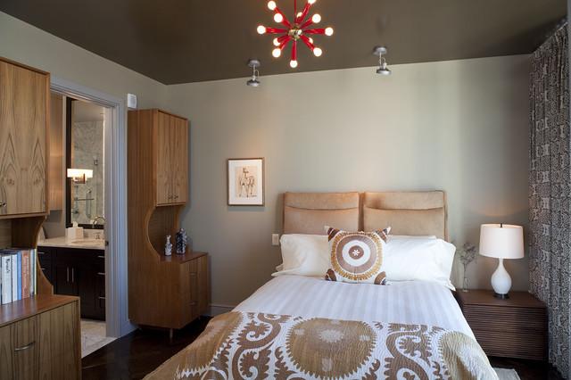 коричневая спальня фото 8