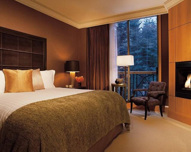 коричневая спальня фото 7