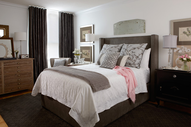 коричневая спальня фото 3