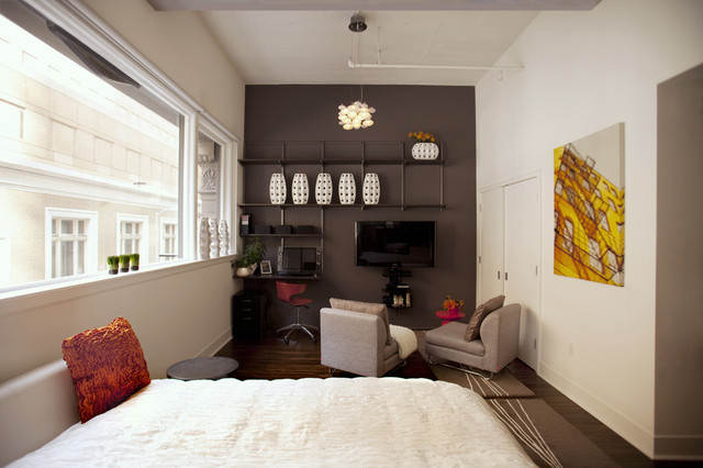 коричневая спальня фото 1