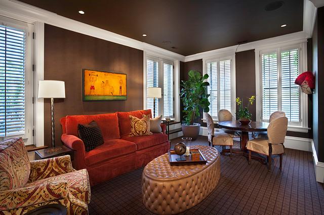 коричневая гостиная фото 10