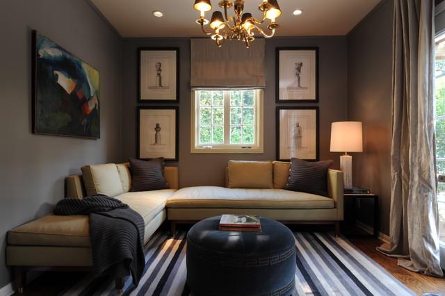коричневая гостиная фото 6