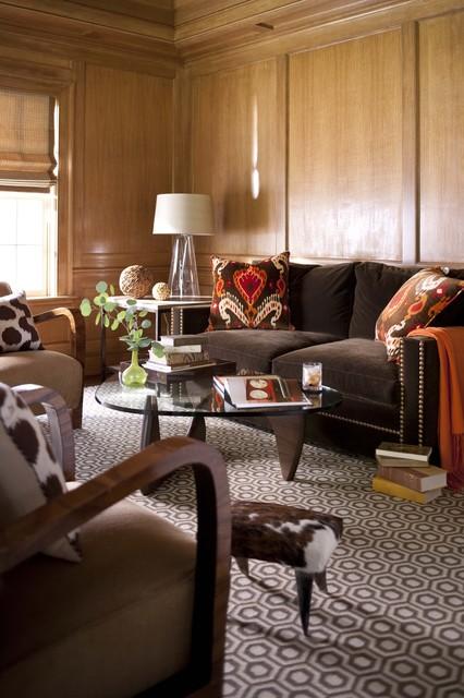 коричневая гостиная фото 4