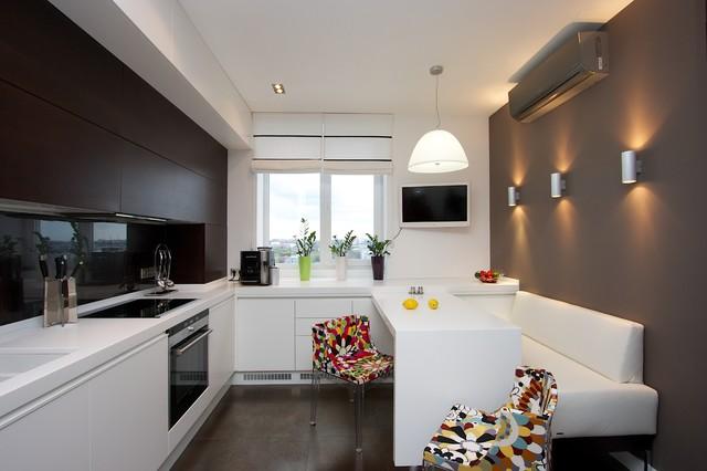 Коричневая кухня фото 1