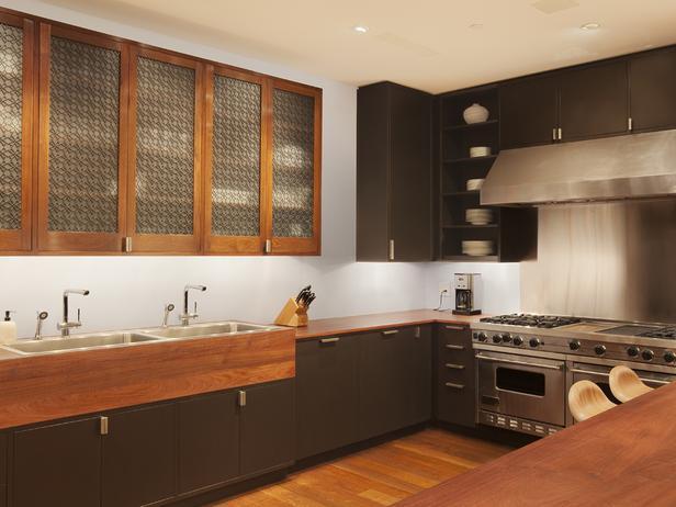 Коричневая кухня фото 4