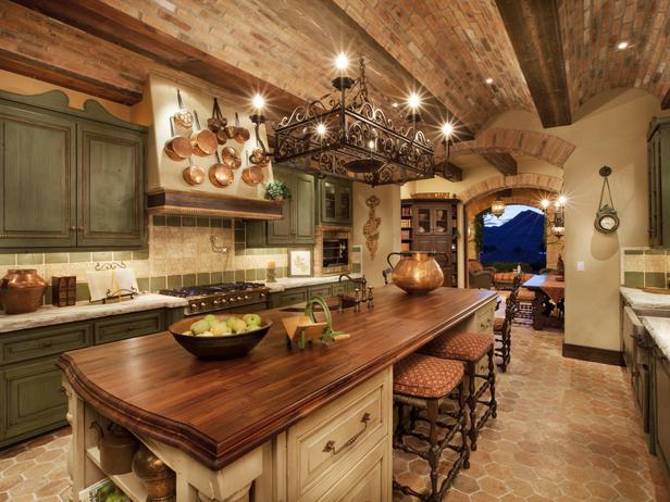 Коричневая кухня фото 3