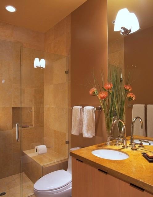 коричневая ванная фото 10