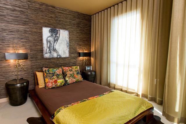 интерьер спальни холостяка в азиатском стиле