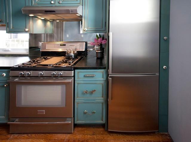 фото бирюзовой кухни