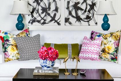 Декоративные подушки в интерьере фото 8