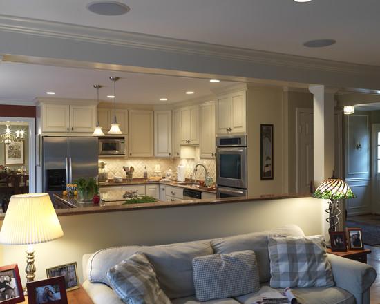 дизайн кухни совмещенной с гостиной фото 3