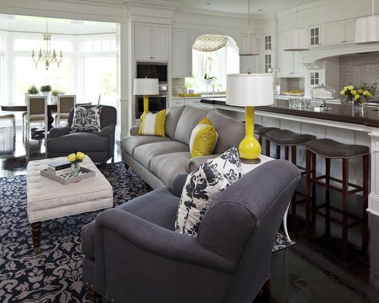дизайн гостиной совмещенной с кухней фото 2