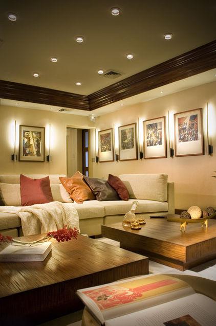 освещение комнаты направленным светом