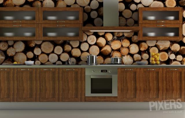 кухни с фотообоями 5