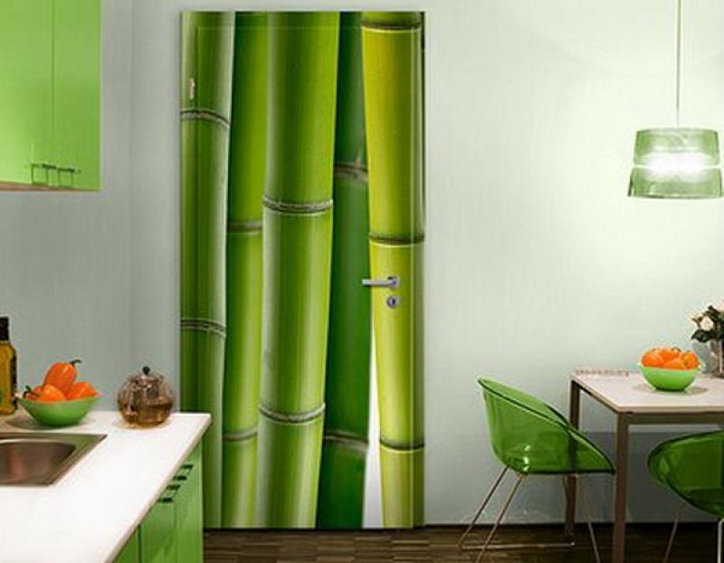 фотообои с бамбуком на кухне