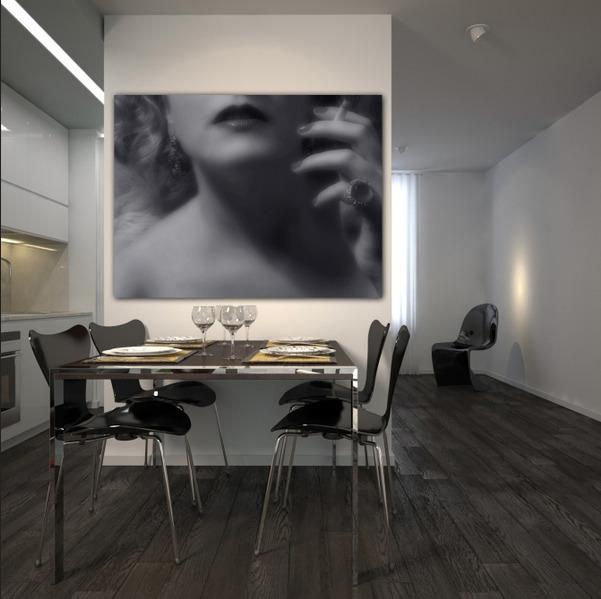 фотообои с марлен дитрих на кухне
