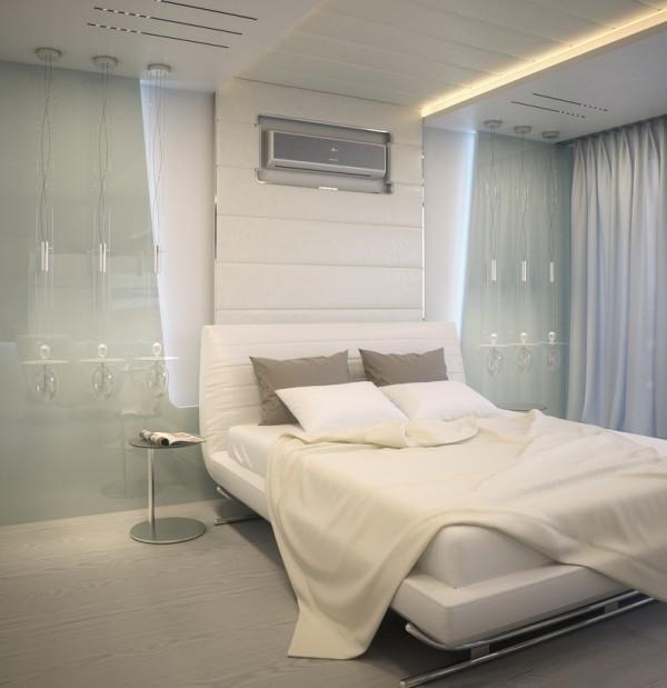 Квартира в белом - спальня