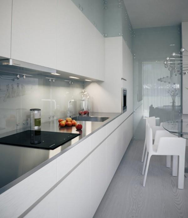 Квартира в белом - кухня
