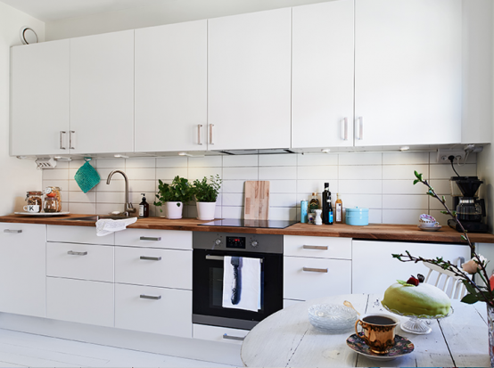 кухня в квартире в скандинавском стиле