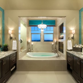Дизайн ванной комнаты – фото 226