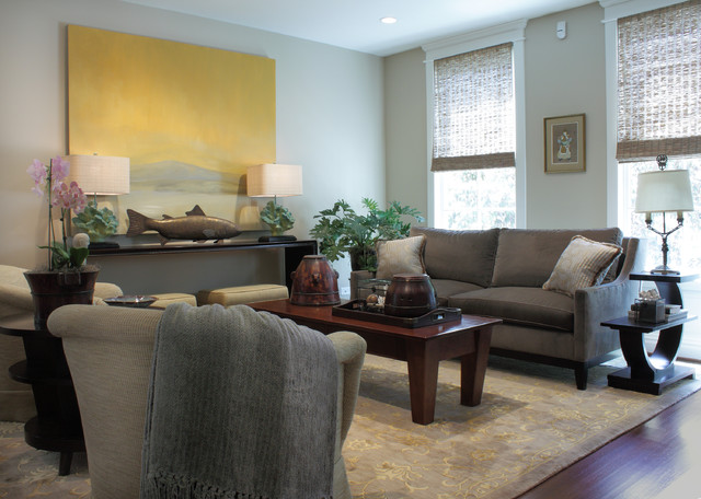 интерьер гостиной комнаты в стиле Арт-деко