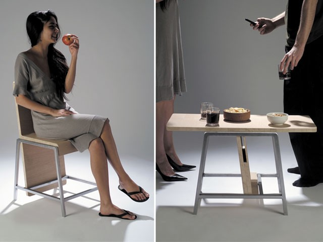 мебель трансформер - Стул и кофейный столик