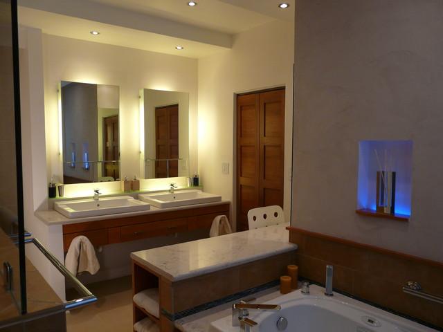 освещение светодиодными лампами ванной