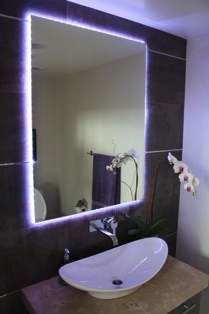 подсветка зеркала в ванной светодиодной лентой