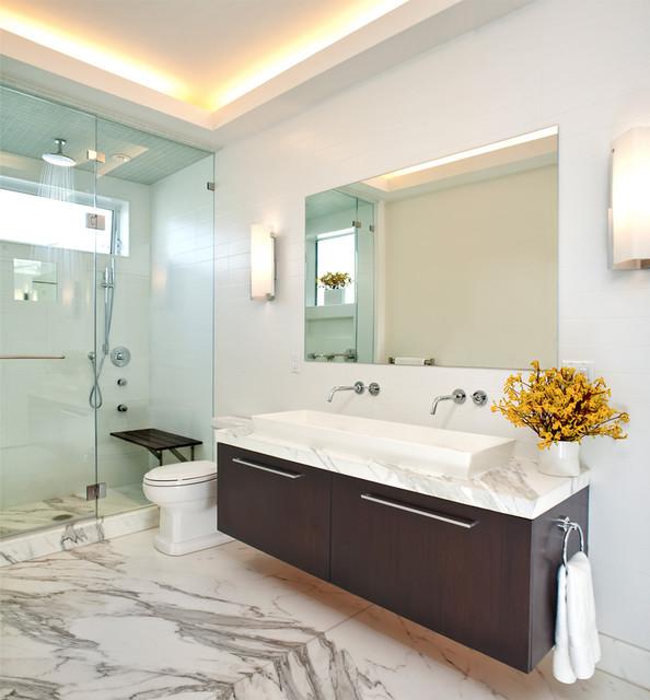 подсветка потолка в ванной светодиодной лентой