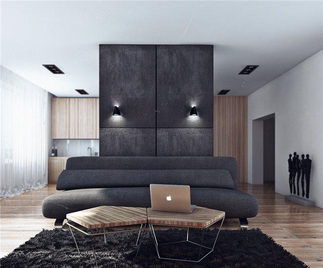 модная квартира - гостиная комната