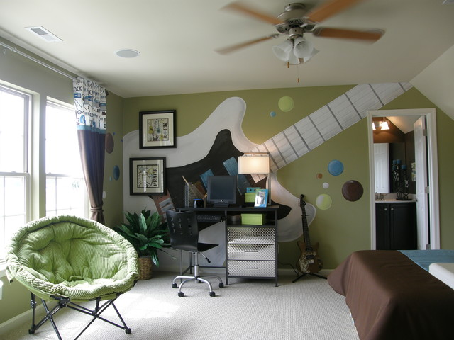комната подростка музыканта
